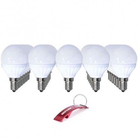 Lote de 30 lámparas esféricas Led E14 6W 3000K Libertina GSC Evolution