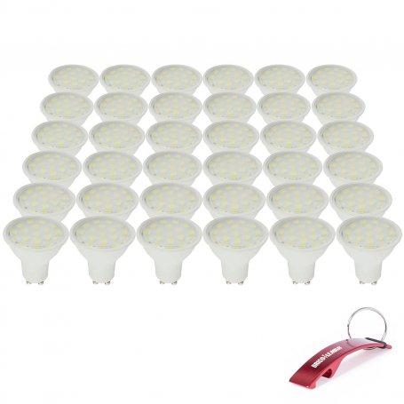 Lote de 36 lámparas dicroicas Led GU10 6W 6000K Libertina GSC Evolution