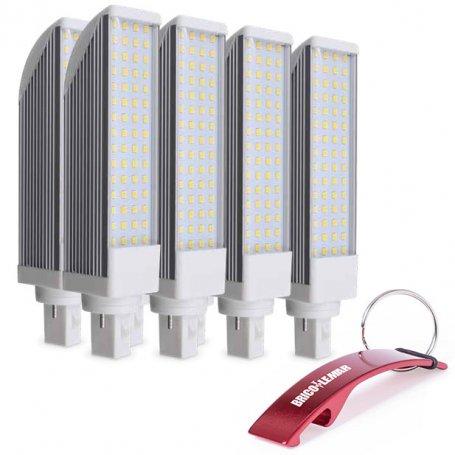 Lote de 8 lámparaa PL giratoria G24 11W 4200K 230V GSC Evolution