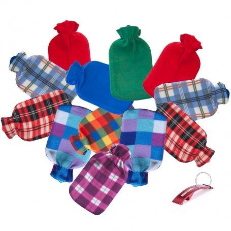 Lote de 12 bolsas de agua caliente goma/polar Dintex