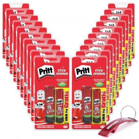 Caja de 20 blísteres de pegamento en barra Pritt de 22+11grs Henkel