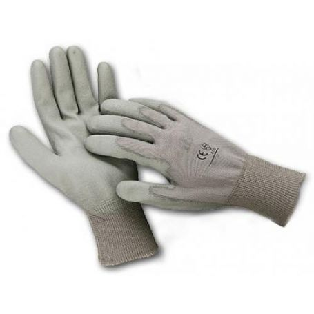 Guantes de poliuretano dorso nylon oscuro talla 9 Cipisa