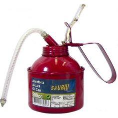 Alcuza metálica cuello flexible 1/2 litro Mader