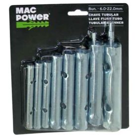 Juego de 8 llaves fija de tubo Mac Power