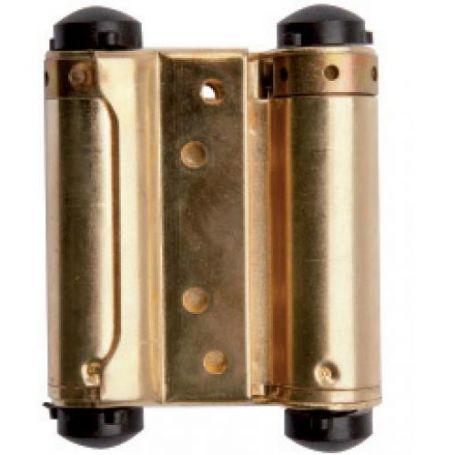 Bisagra de doble acción Ucem 989 75mm hierro latonado