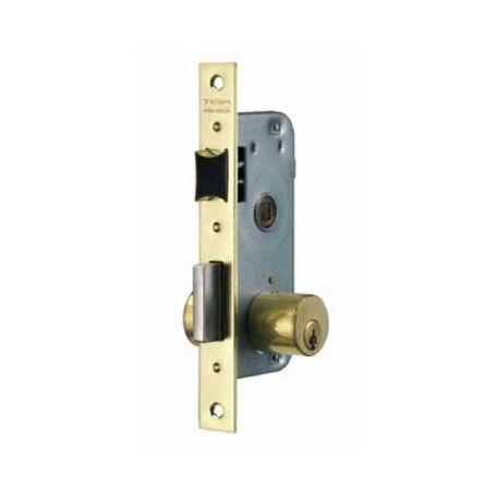 Cerradura embutir Tesa 2000 HL 40mm latonado puertas de madera