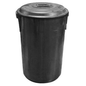 Cubo con tapa 100 litros negro Vikinga