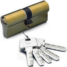 Cilindro Alta Seguridad Hs-7 60mm Latón Yale Azbe
