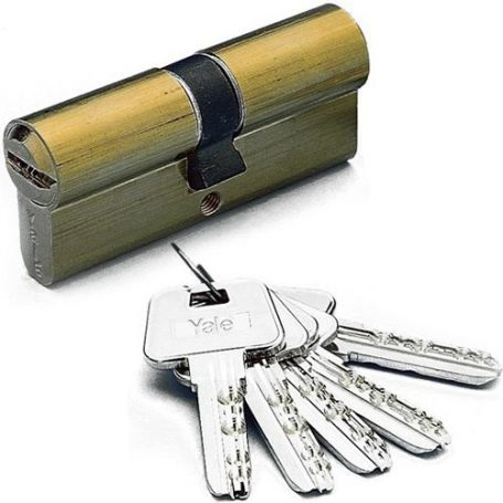 Cilindro Alta Seguridad Hs-7 80mm Latón Yale Azbe
