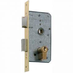 Cerradura embutir MCM 1501 precio 35mm para puertas de madera acero latonado