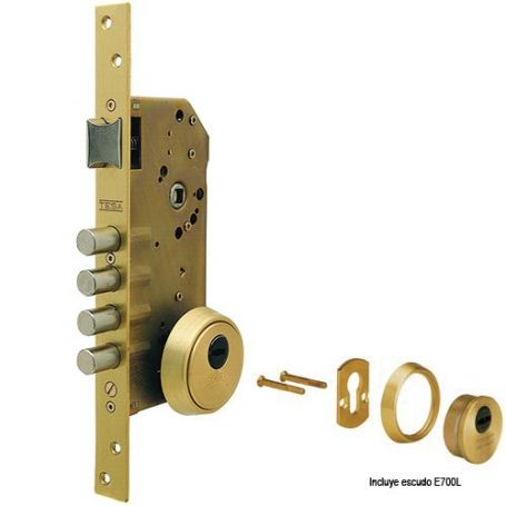 Cerradura Tesa R200B precio monopunto 4 bulones latonado