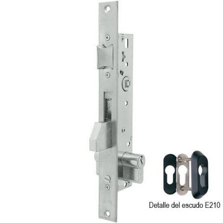 Cerradura Tesa 2210 20mm perfil metálico monopunto palanca basculante inoxidable