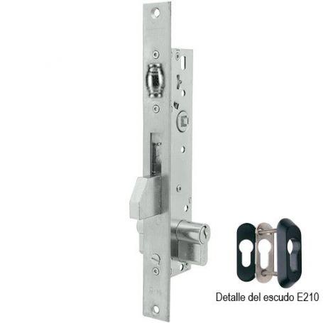 Cerradura Tesa 2216 30mm perfil metálico palanca basculante inoxidable