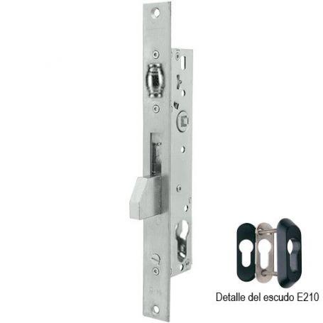 Cerradura Tesa 2216 35mm perfil metálico palanca basculante y rodillo acero inoxidable