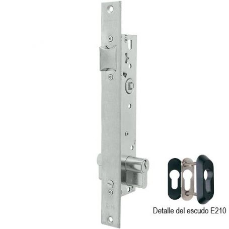 Cerradura Tesa 2219 30mm AI perfil metálico palanca basculante inoxidable