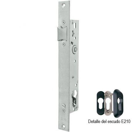 Cerradura Tesa 2219 35mm AI perfil metálico sin cilindro acero inoxidable
