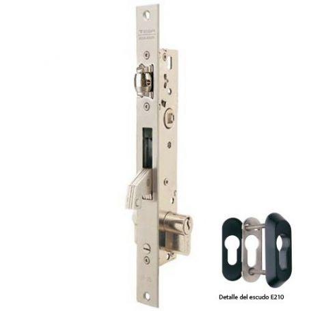Cerradura Tesa 2246 25 3AI basculante gancho reforzado y rodillo inoxidable