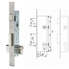 Cerradura deslizante Tesa 2210E 35 ancho de caja 15mm inoxidable