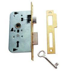 Cerradura embutir madera Tesa 2002 HL 50mm latonado