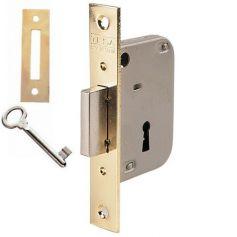 Cerradura embutir madera Tesa 2003 HL 50mm latonado