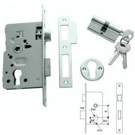 Cerradura embutir Tesa 2010-P HN 60mm