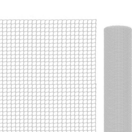 Malla para balcones blanca 1x5 mts 9x9 mm Intermas