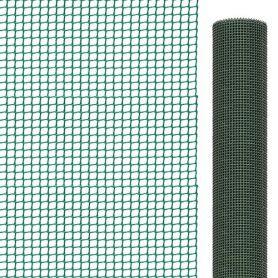 Malla para balcones verde 1x25 mts 9x9 mm Intermas