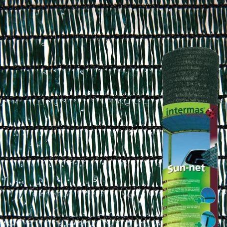 Malla sombreadora verde oscuro SUN-NET R7 3x4m Intermas