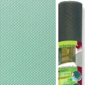 Malla mosquitera plastico 1x50m verde mosquiplast Intermas