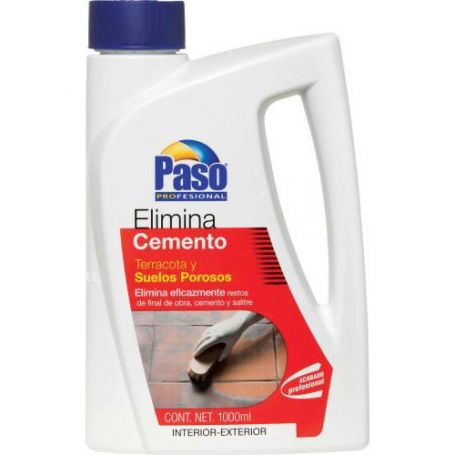 Elimina cemento suelos porosos Paso 1 Litro