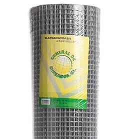 Malla electrosoldada galvanizada ligera 6x6mm (1x10mts) Central de Enrejados