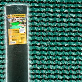 Malla ocultacion 85% 2x50m verde oscuro Central de Enrejados