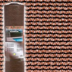 Malla ocultacion 85% 1,50x50m marrón Central de Enrejados