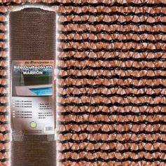 Malla ocultacion 85% 2x50m marrón Central de Enrejados
