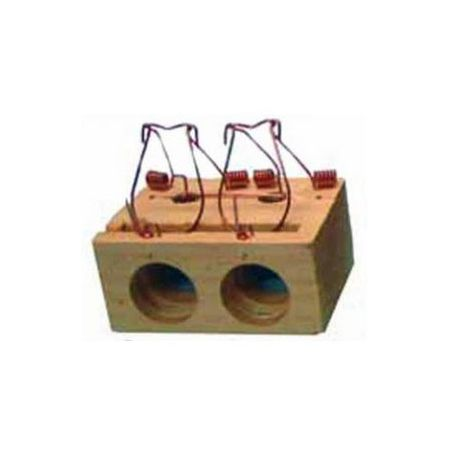Ratonera de madera de 2 agujeros Garhe