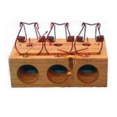 Ratonera de madera de 3 agujeros Garhe