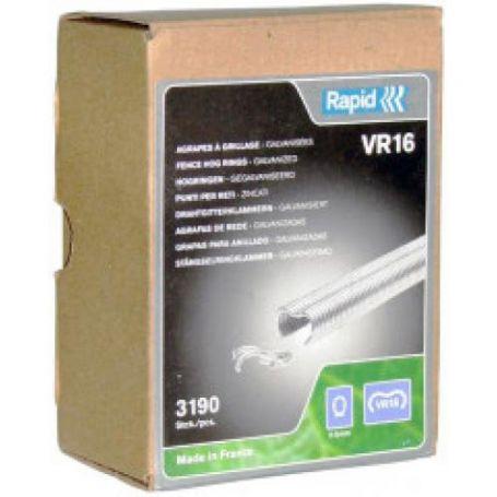 Anillos VR16 2-8mm galvanizado - caja 3190 piezas Rapid