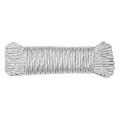 Madeja de cuerda polipropileno trenzado blanca 20mts HCS