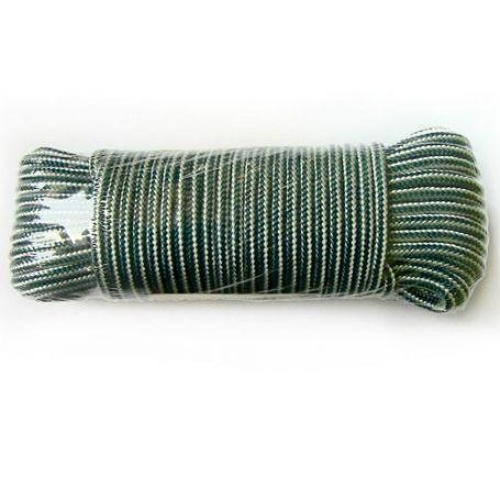 Madeja de cuerda polipropileno trenzado blanca y verde 15mts HCS