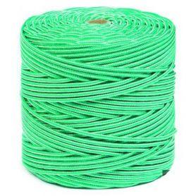 Cuerda polipropileno trenzado 5mm blanca y verde 200mts HCS