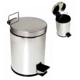 Papelera baño 5 litros inoxidable con pedal AFJ