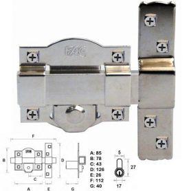 Cerrojo FAC 300-R HIDRO izquierda níquel