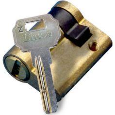 Medio cilindro de seguridad C2 42mm (32x10mm) Latonado Lince