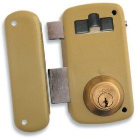 Cerradura Lince de sobreponer 5056-a esmaltado 60mm izquierda