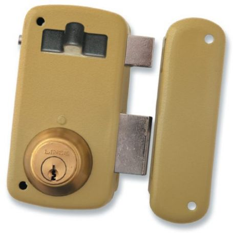 Cerradura Lince de sobreponer 5056-a esmaltado 70mm derecha