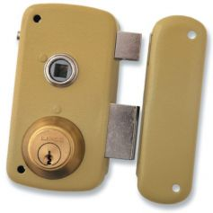Cerradura Lince de sobreponer 5056-b esmaltado 60mm derecha