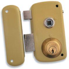 Cerradura Lince de sobreponer 5056-b esmaltado 60mm izquierda
