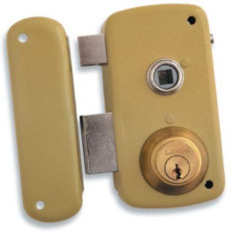 Cerradura Lince de sobreponer 5056-b esmaltado 70mm izquierda
