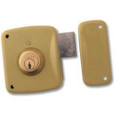 Cerradura Lince de sobreponer 5124-a esmaltado 80mm derecha