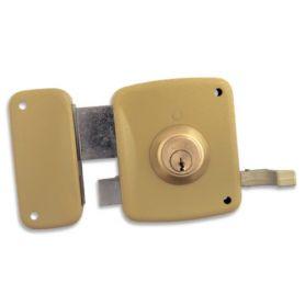Cerradura Lince de sobreponer 5125-a esmaltado 80mm izquierda